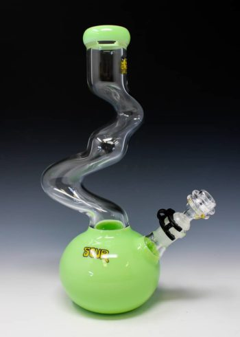 "Sour Slime Green Clear 12"" Twist Bong"