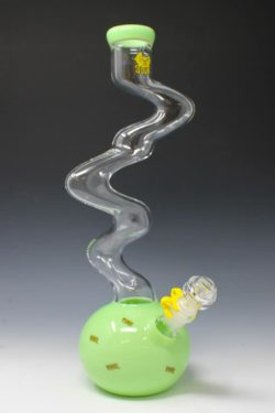 "Sour glass 15"" skinny twist slime clear"